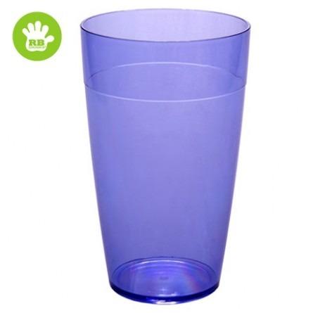 Unzerbrechliche stabelbar Softdrinkgläser Blau 30 cl