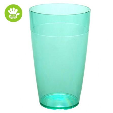 Unzerbrechliche stabelbar Softdrinkgläser Grün 30 cl