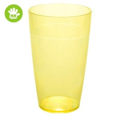 Unzerbrechliche stabelbar Softdrinkgläser Gelb 30 cl